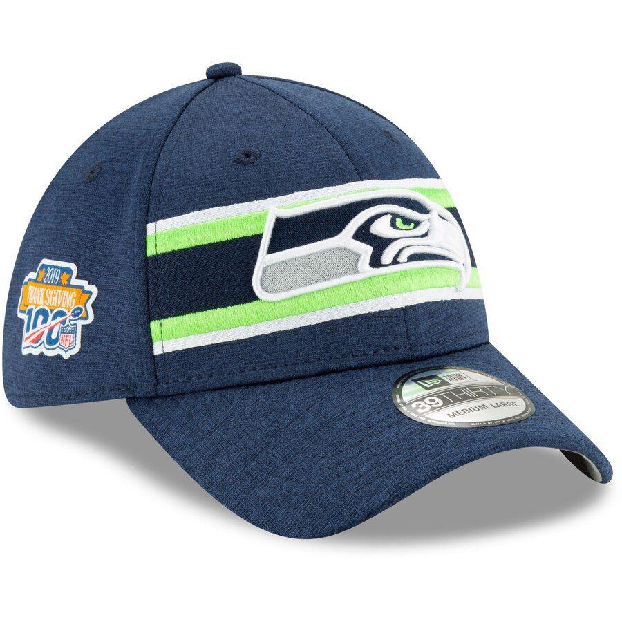 Seattle Seahawks navy New Era 39Thirty Diamond Cap