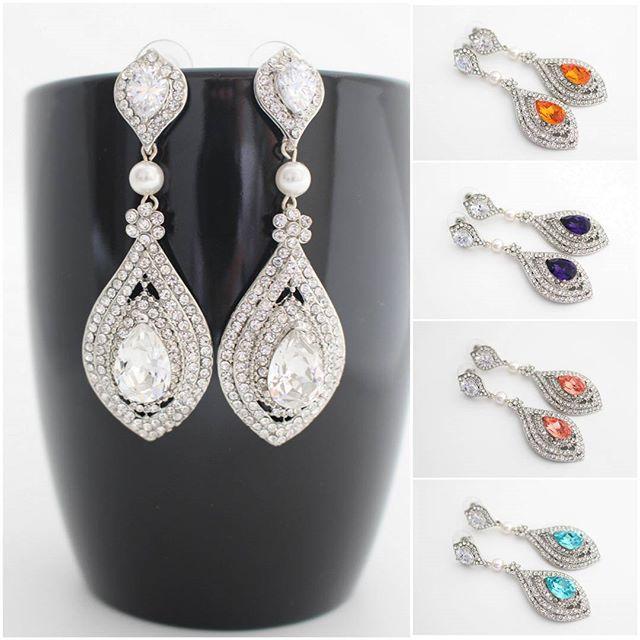 Bridal and matching Bridesmaid Earrings