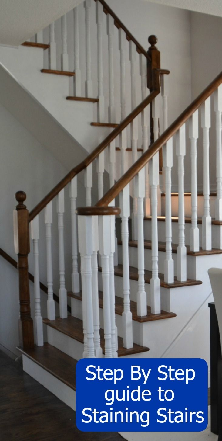 Best How To Refinish And Modernize Your Oak Stairs Refinish 640 x 480
