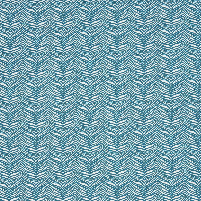 Lagoon Zebra Aqua Animal Print Outdoor Upholstery Fabric