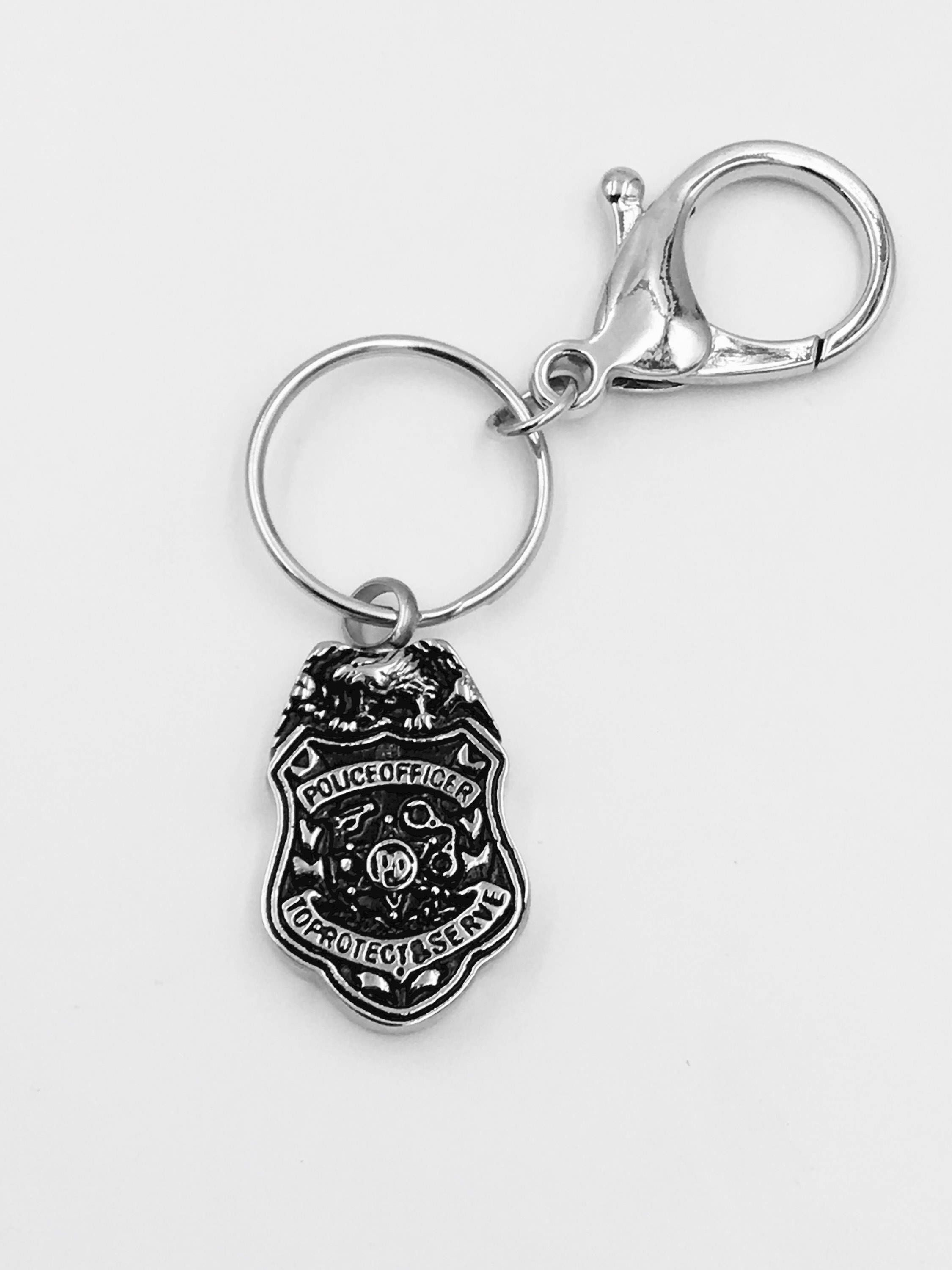 of silver piece pin pendants badge and digital heart police my pendant
