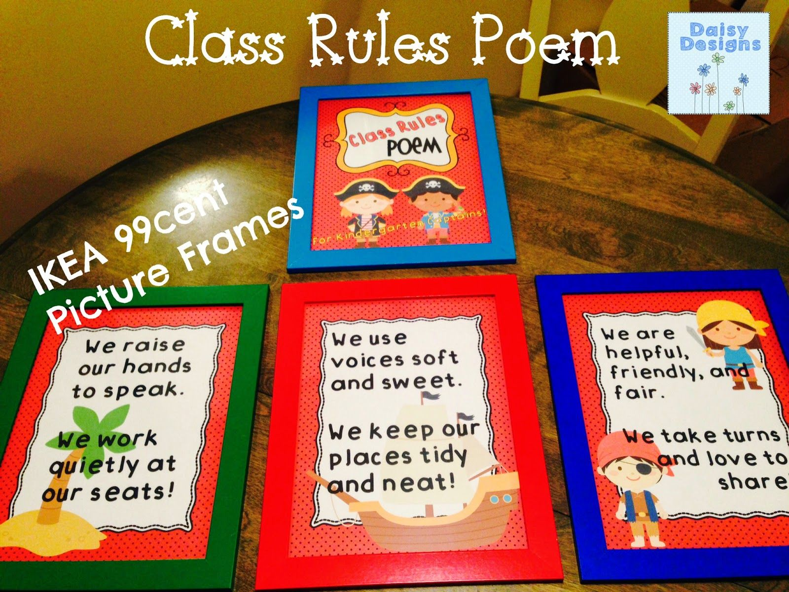 ClassRules Poem | Teaching Aids | Kindergarten classroom