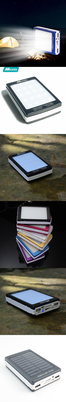 Portable Solar Power Bank 12000mah Bateria Externa Portatil Dual Usb Oldi Powerbank Led External Mobile Phone Battery Charger Backup Pow