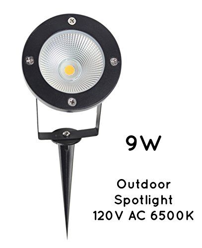 Jlumi Led Landscape Spotlight 9w 120v Ac Metal Ground Stake Outdoor Garden Spotlight Flag Light Cool Landscape Spotlights Landscape Lighting Garden Spotlights