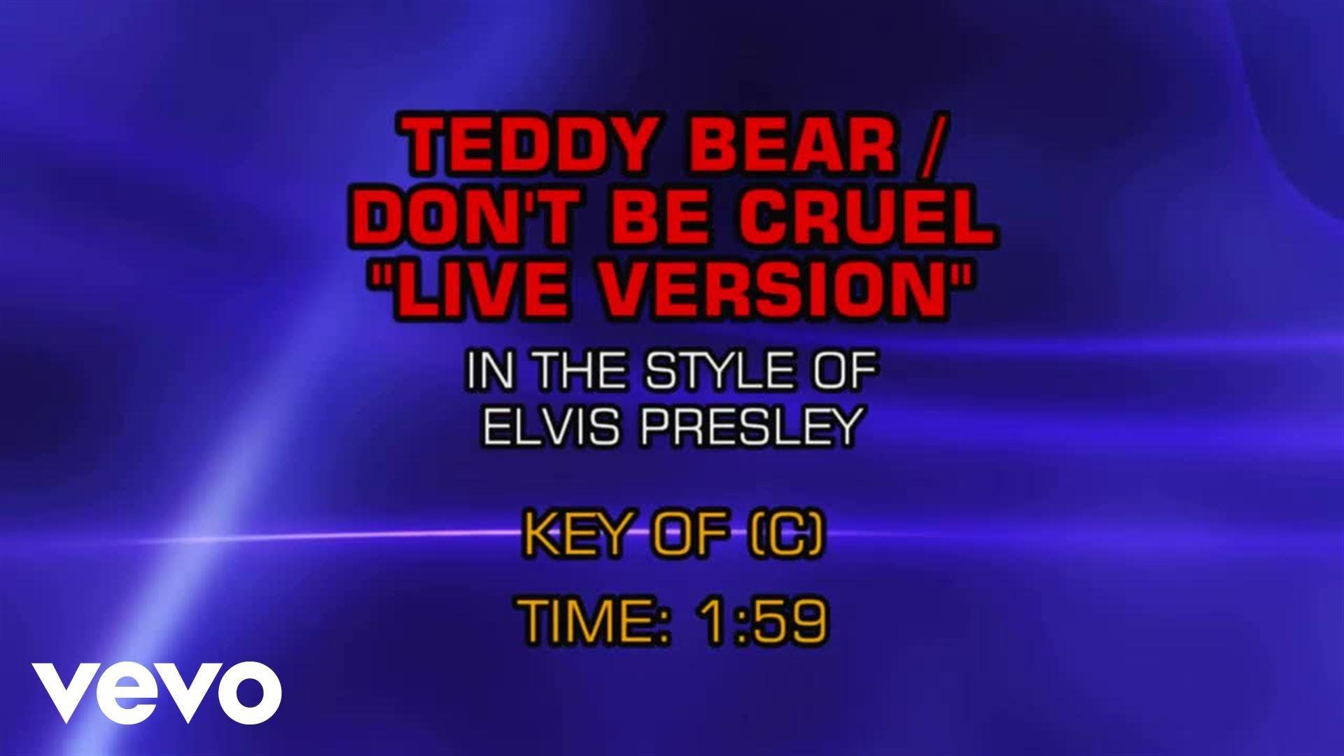 Elvis Presley Teddy Bear Don T Be Cruel Karaoke Karaoke Michael Jackson Music Chords