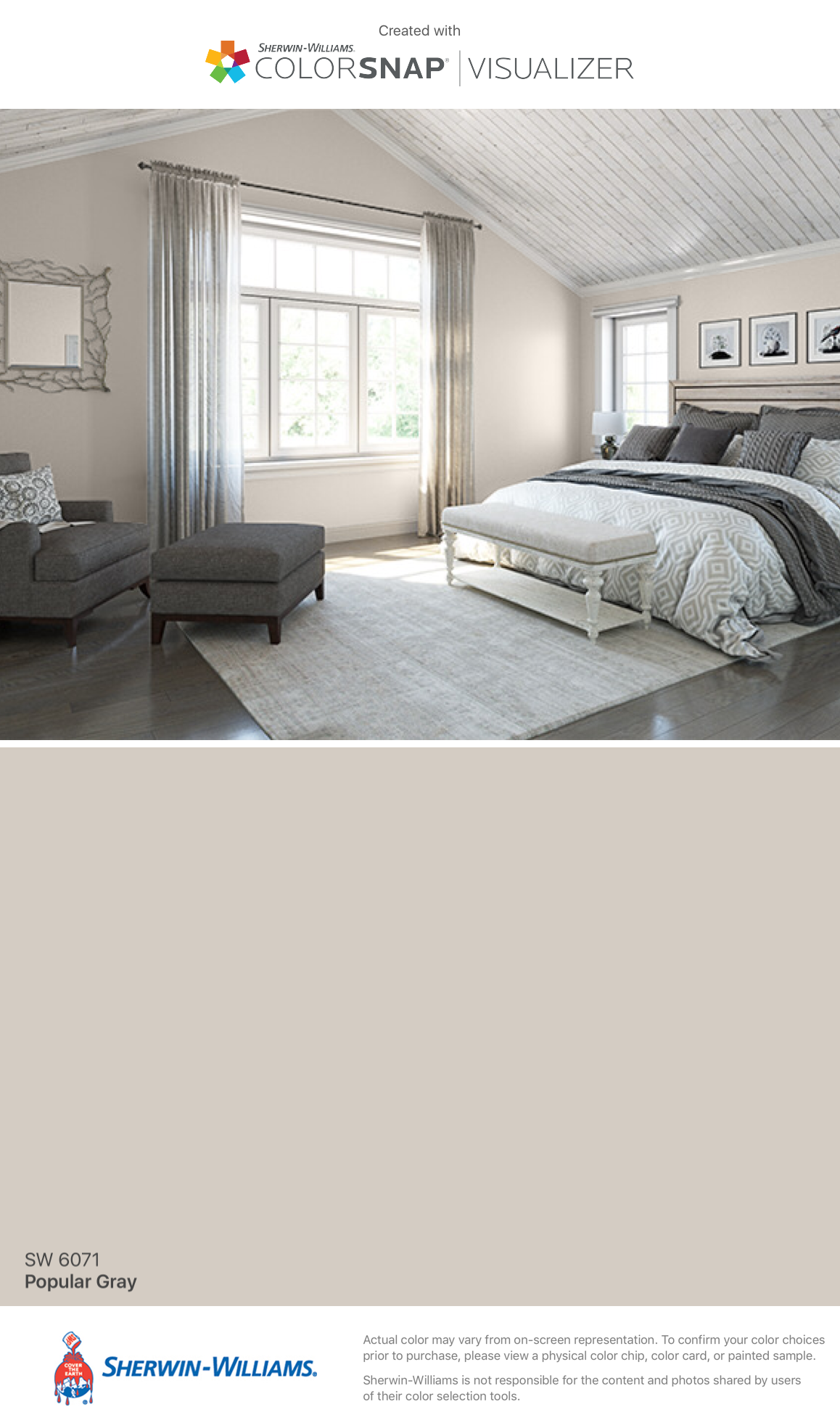 I Found This Color With Colorsnap Visualizer For Iphone By Sherwin Williams Popular Gray Sw 6071 Bedroom Colors Master Bedroom Paint Bedroom Paint Colors