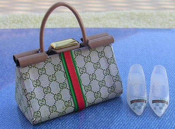 95bce872 Gucci 1/6 Barbie Handbag and shoes by chicdesign on Etsy | Doll ...