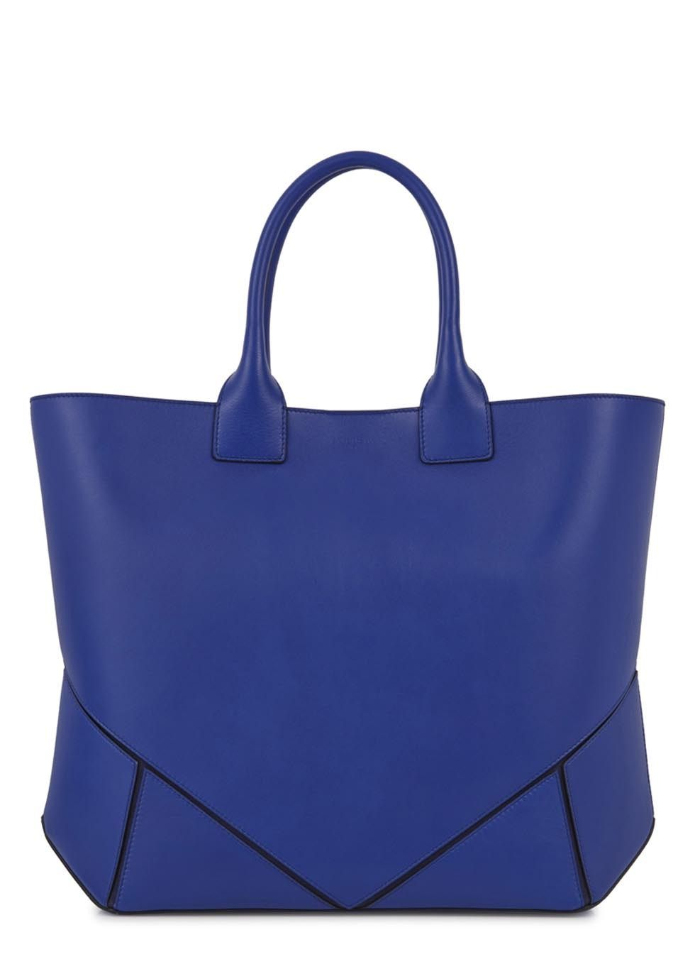 Bright Blue Leather Handbag | Luggage And Suitcases