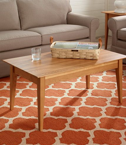 Shaker Style Coffee Table | L.L.Bean | New House... | Pinterest