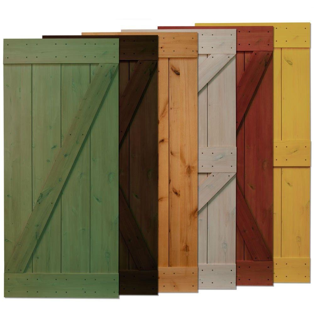 Real sliding hardware rustic alder barn door
