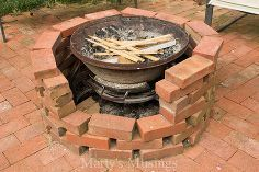 Attractive Check Out This Fire Pit Made With Free Brick And An Old Chimenea, Concrete  Masonry