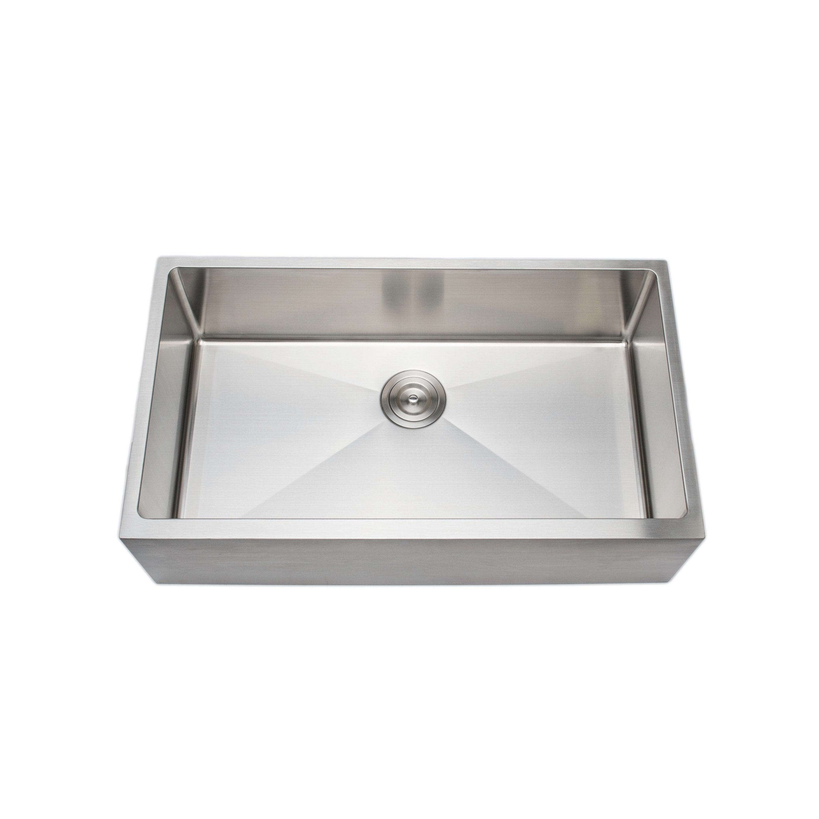 Wells Sinkware 33 Inch 16 Gauge Undermount Farmhouse Apron Front Single Bowl Stainless Steel Kitchen Sink Single Bowl Kitchen Sink Sink Single Bowl Sink