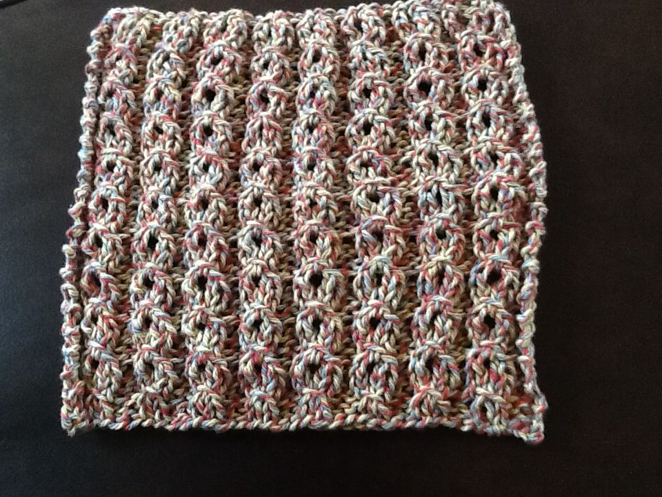 Face cloth.  I loved this stitch!