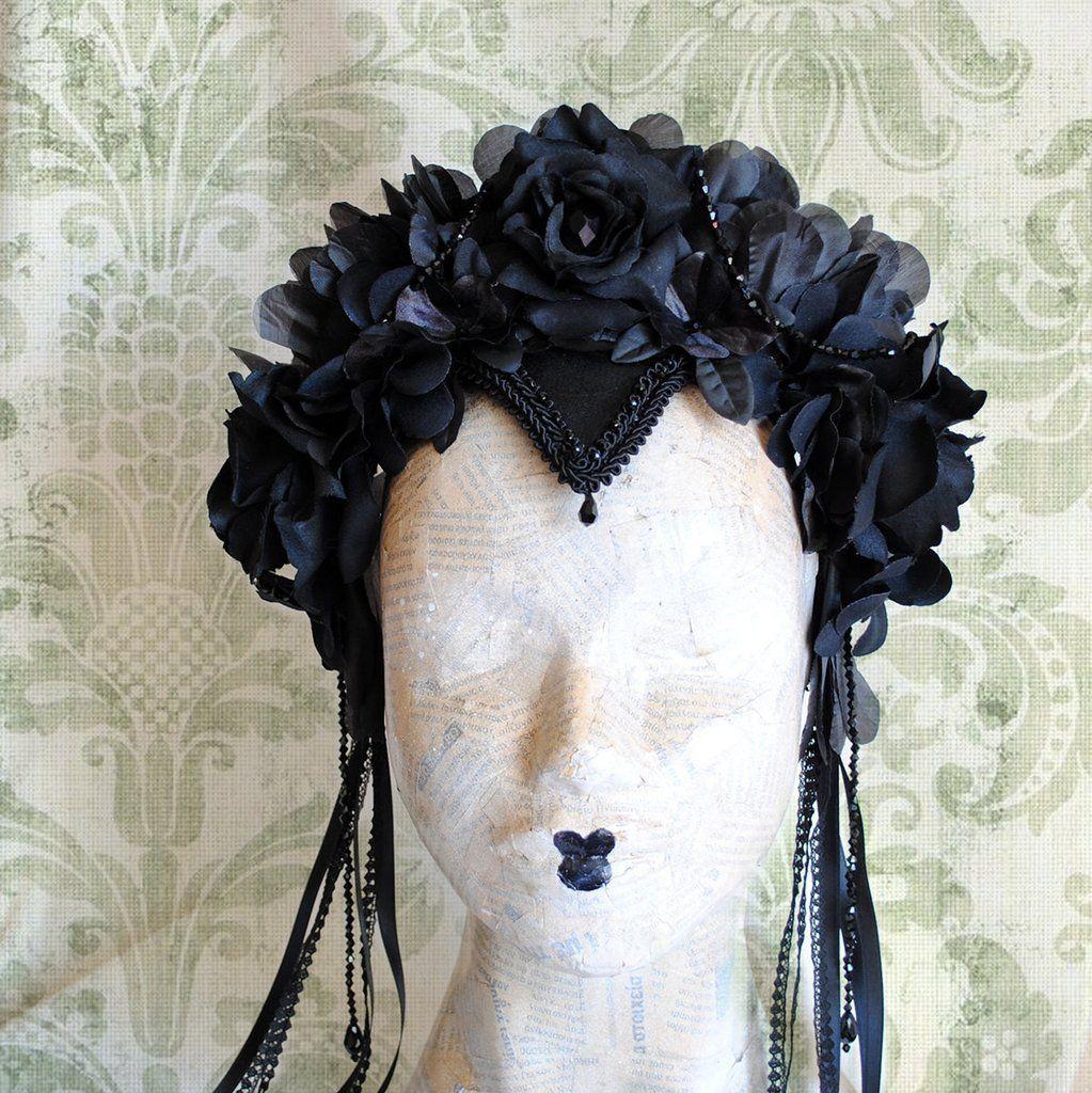Gothic Dark Fairy Flower Crown in 2019  3cfca0e4868
