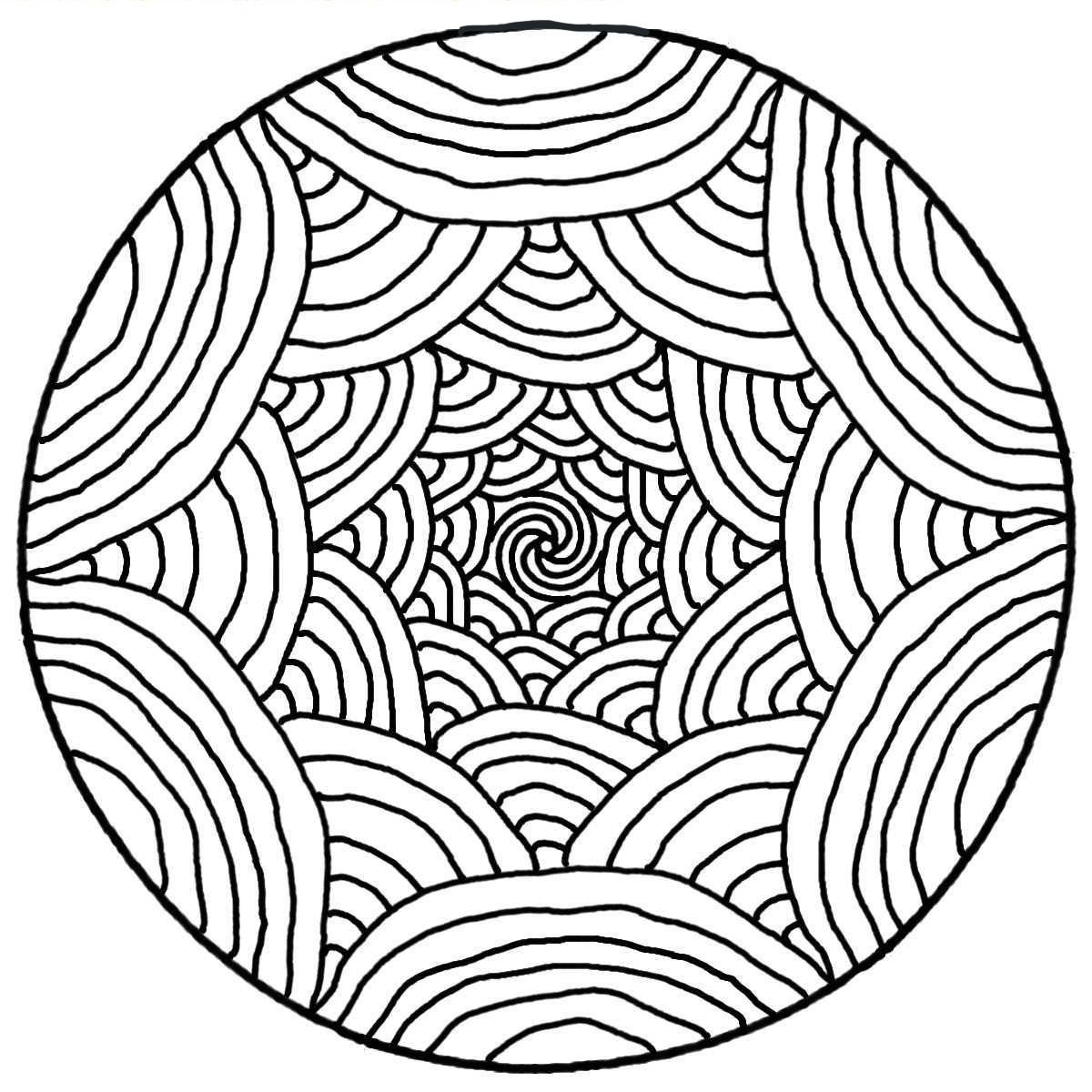 Rainbow Coloring Pages For Adults Easy To Color Seni Warna Garis