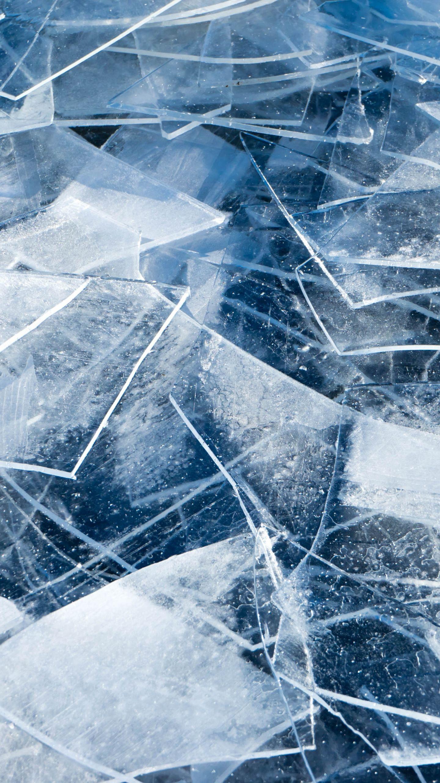 1440x2560 Snow Layer Cracks Closeup Wallpaper Wallpaper