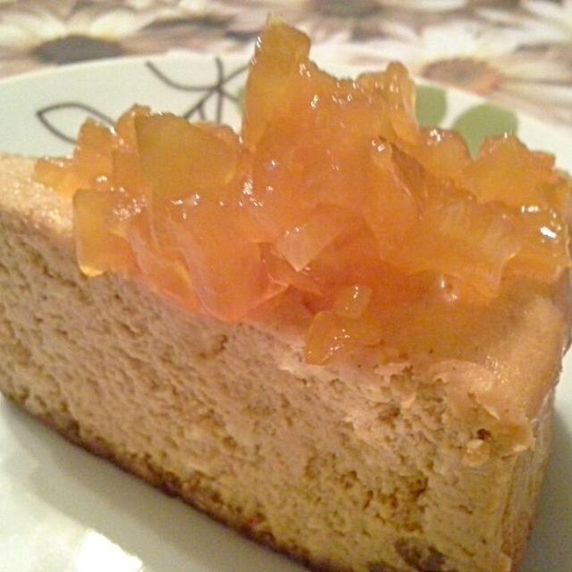 レシピとお料理がひらめくSnapDish - 5件のもぐもぐ - Pumpkin cheesecake with a ginger snap crust and pumpkin preserve topping by Fe's kitchen