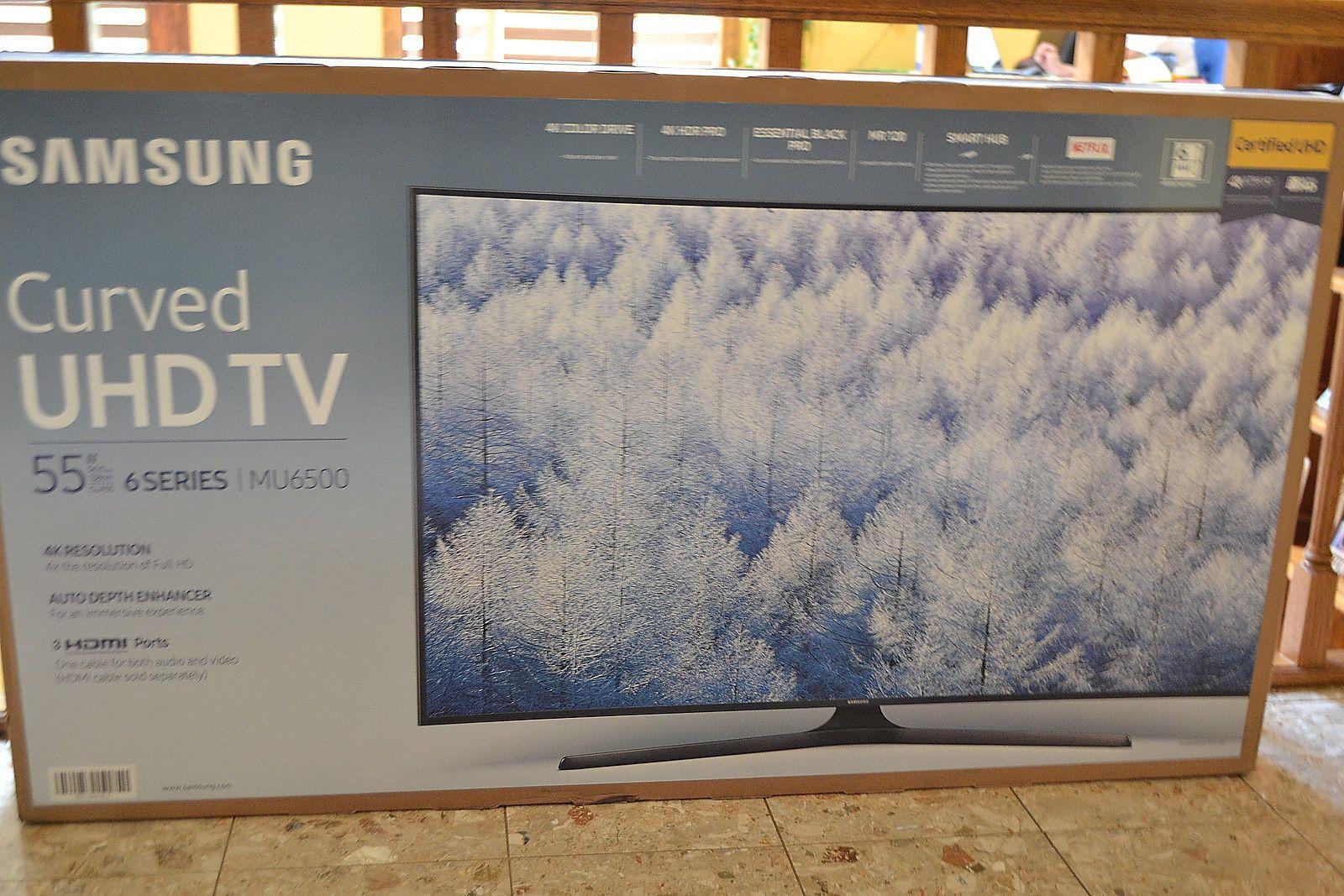 samsung tv remote 2017. samsung 55 inch curved 4k ultra hd tv/smart remote 2017 model un55mu6500 new tv