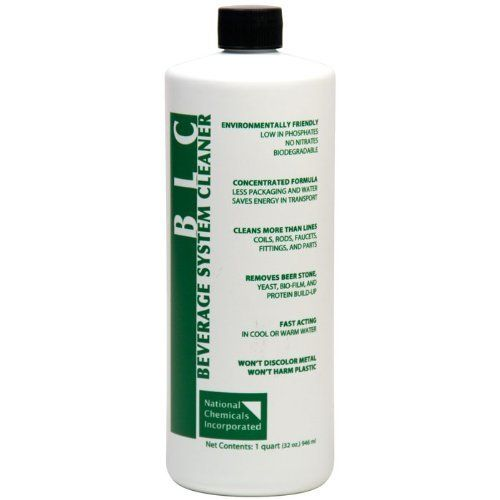 BLC Beer Line Cleaner - 32 oz. by Midwest Homebrewing and Winemaking Supplies. $13.99. BLC Beverage Line Cleaner is a value focused way to remove beer stone, biomass, organics and mineral deposits from beverage lines.BLC is a liquid product that does not cake or harden and it mixes instantly. This nitrate-free formulation is also low in phosphates and 100% biodegradable. BLC works with all electrical, mechanical and hand driven cleaning units.The primary active ing...