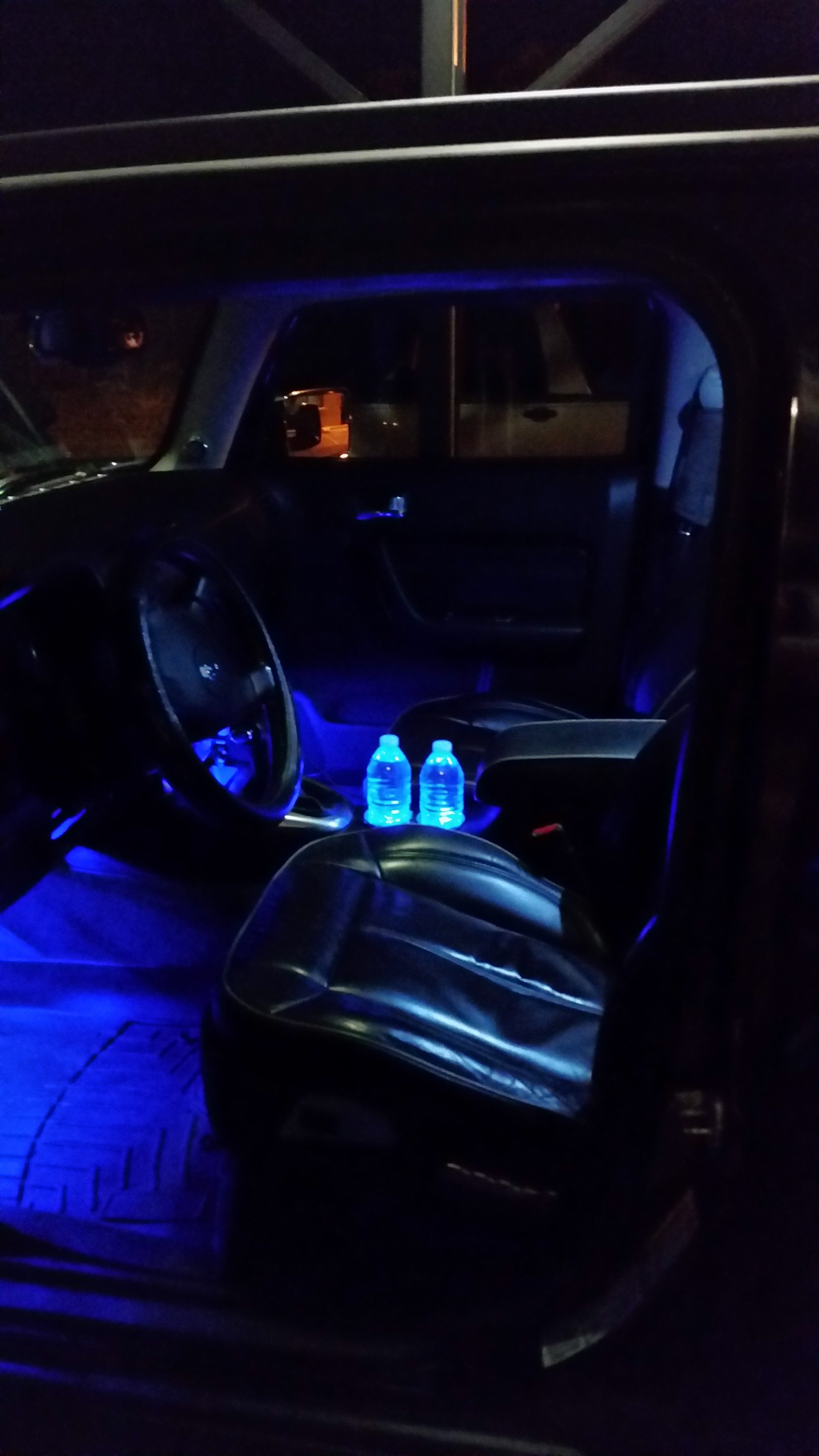 The Blue Led And Ledglow Interior Lighting I Installed We