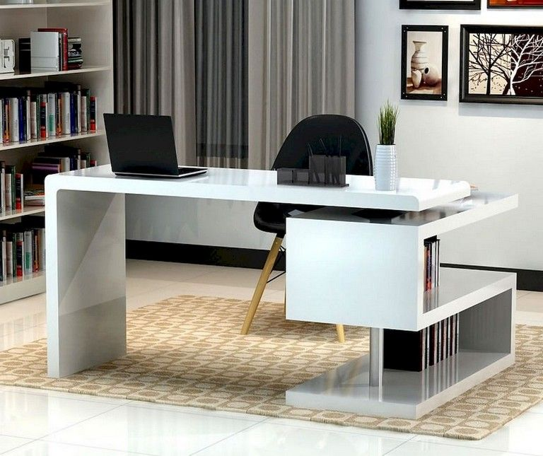 70 Awesome Contemporary Home Office Ideas Homedecorideas Homeofficeideas Homedecoraccessorie Modern Home Office Desk Office Table Design Modern Office Desk