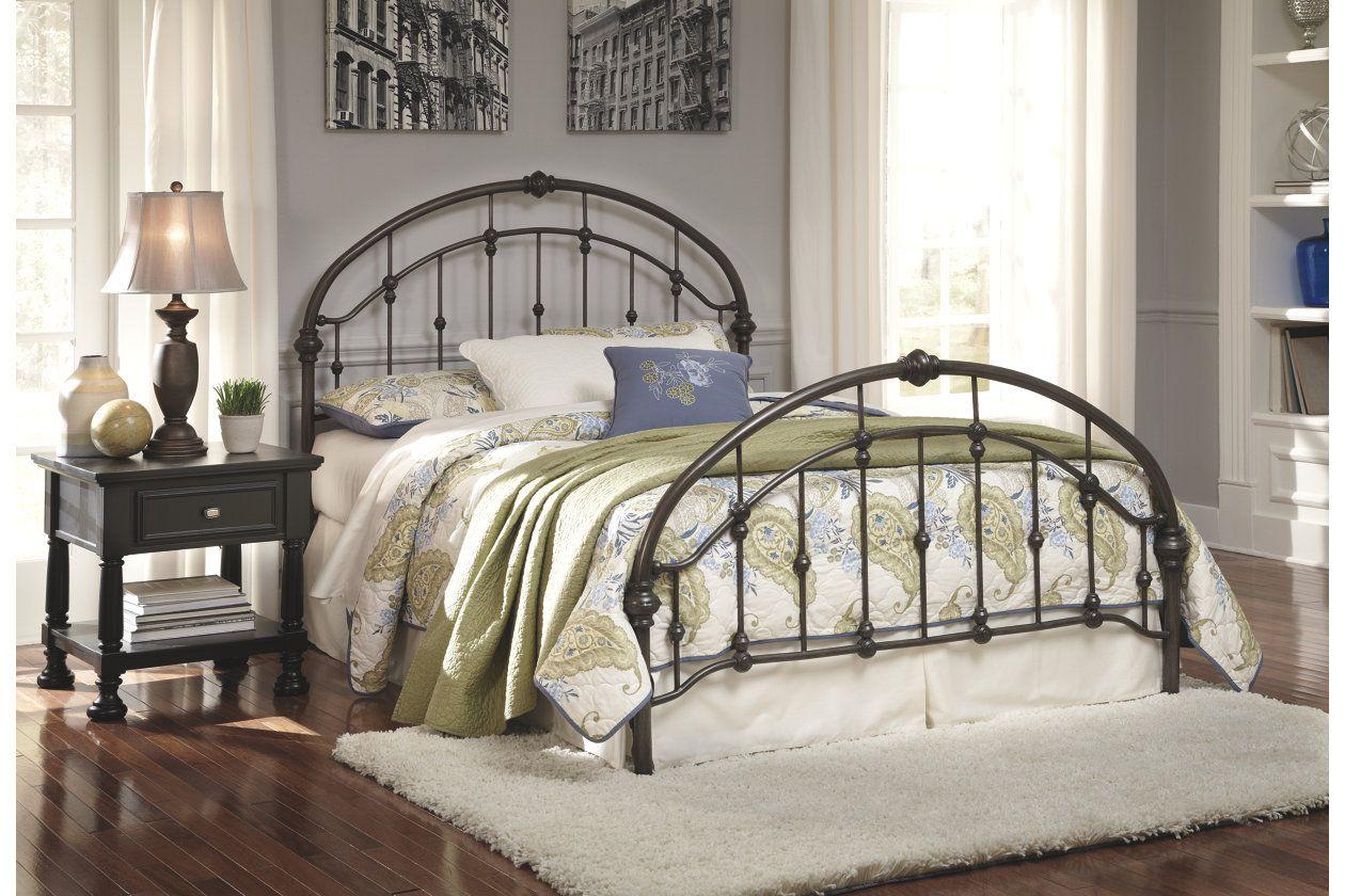Nashburg King Metal Bed Ashley Furniture HomeStore