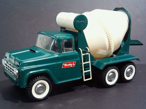 Mixer Truck Toy : Vintage green buddy l cement mixer concrete truck