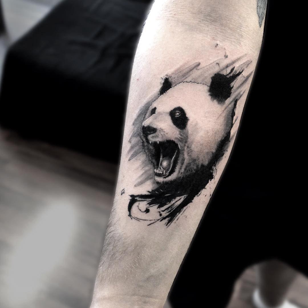 Custom panda tattoo by thetattootwins panda tattoo