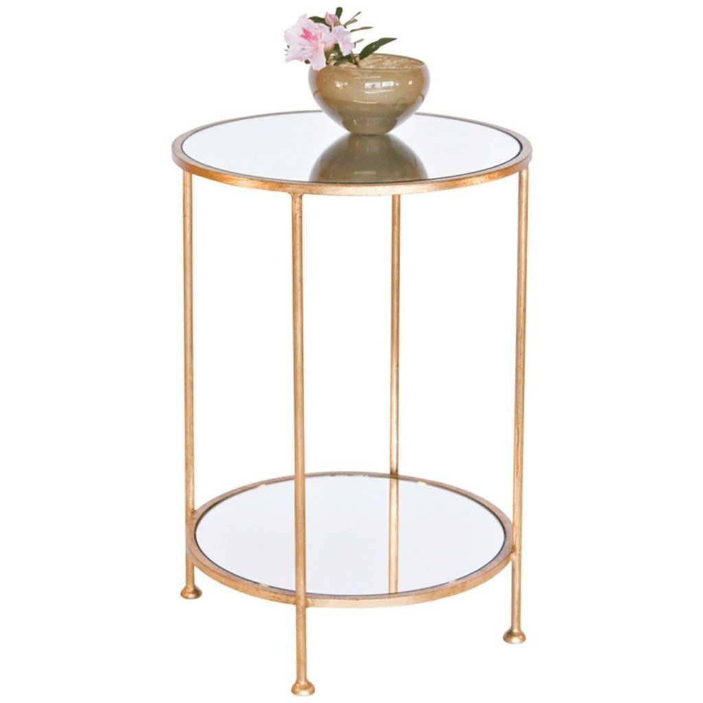 Worlds Away 2 Tier Side Table Chico G In 2021 Gold Side Table Bedside Table Round Glass Side Tables [ 1024 x 1024 Pixel ]