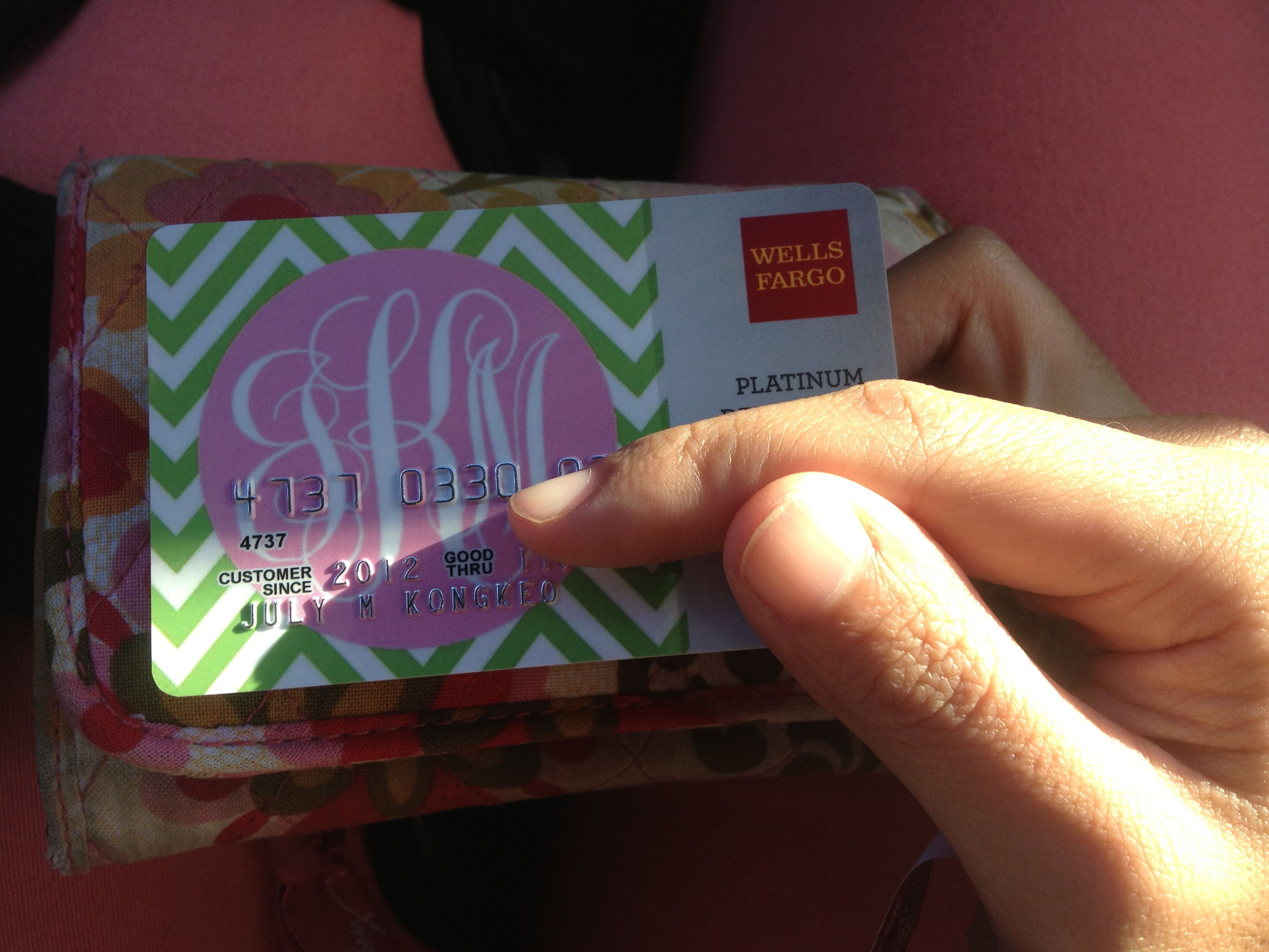 Monogram debit card! Totally free if you haven\'t used the Wells ...
