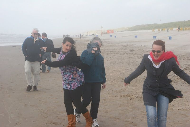 Dad, Mum, Juzzy and I. Egmond beach in Holland on a lovely day!!