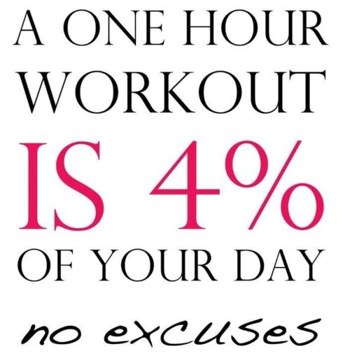no excuses . . .