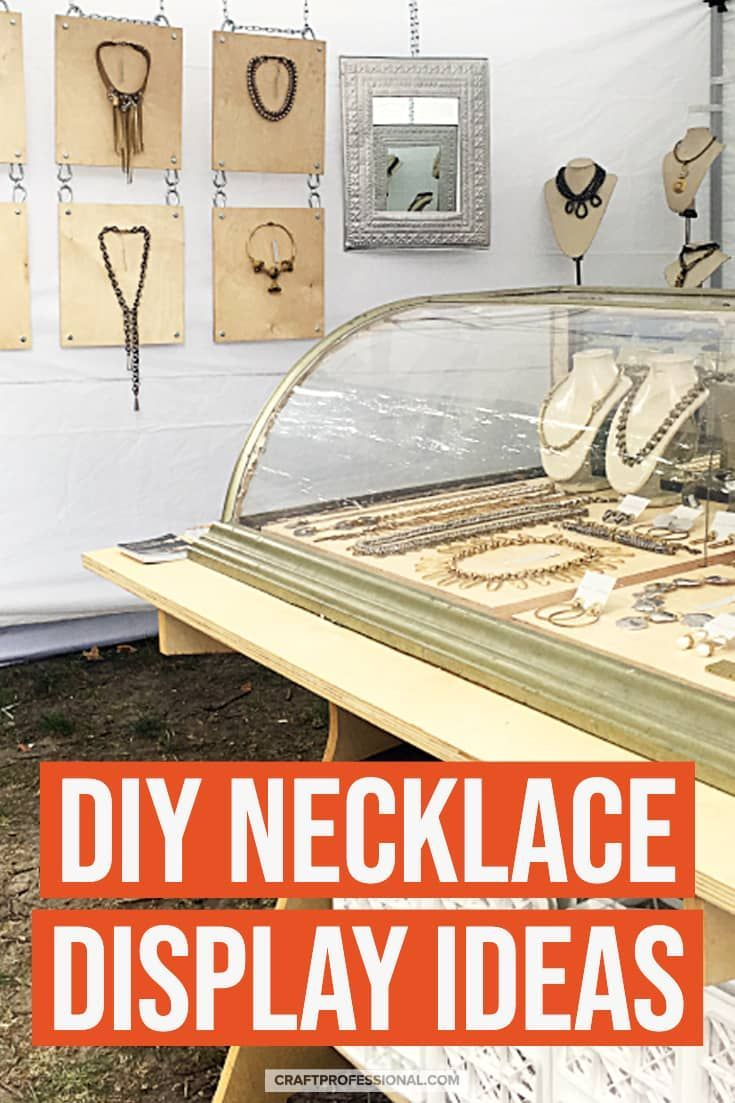 How to Display Necklaces at a Craft Show #craftfairs