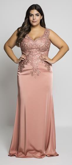 Vestido sereia com bordado phelps meus luque pinterest for Robes pour les femmes de taille plus pour les mariages