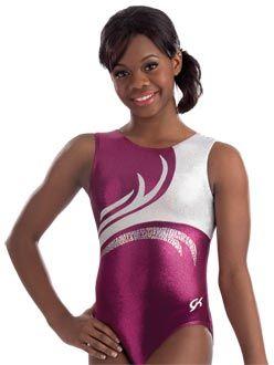 Silver Sequinz Gymnastics Leotard from GK Elite