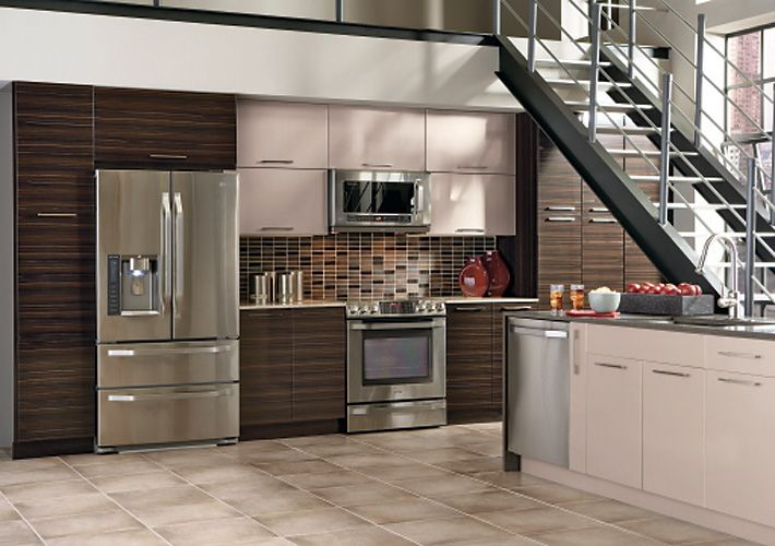 Thomasville Contemporary Kitchen In Brown And White With Nouveau Stunning Home Depot Kitchen Doors 2018