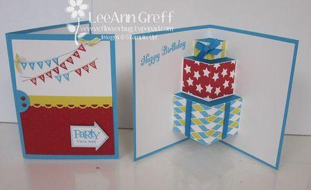 Fun Pop Up Birthday Card Tutorial F G
