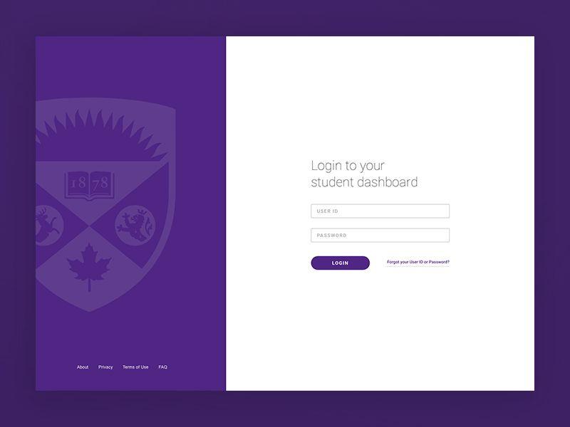 Student Dashboard Login Screen Student Dashboard Student Web Design Login background images for online
