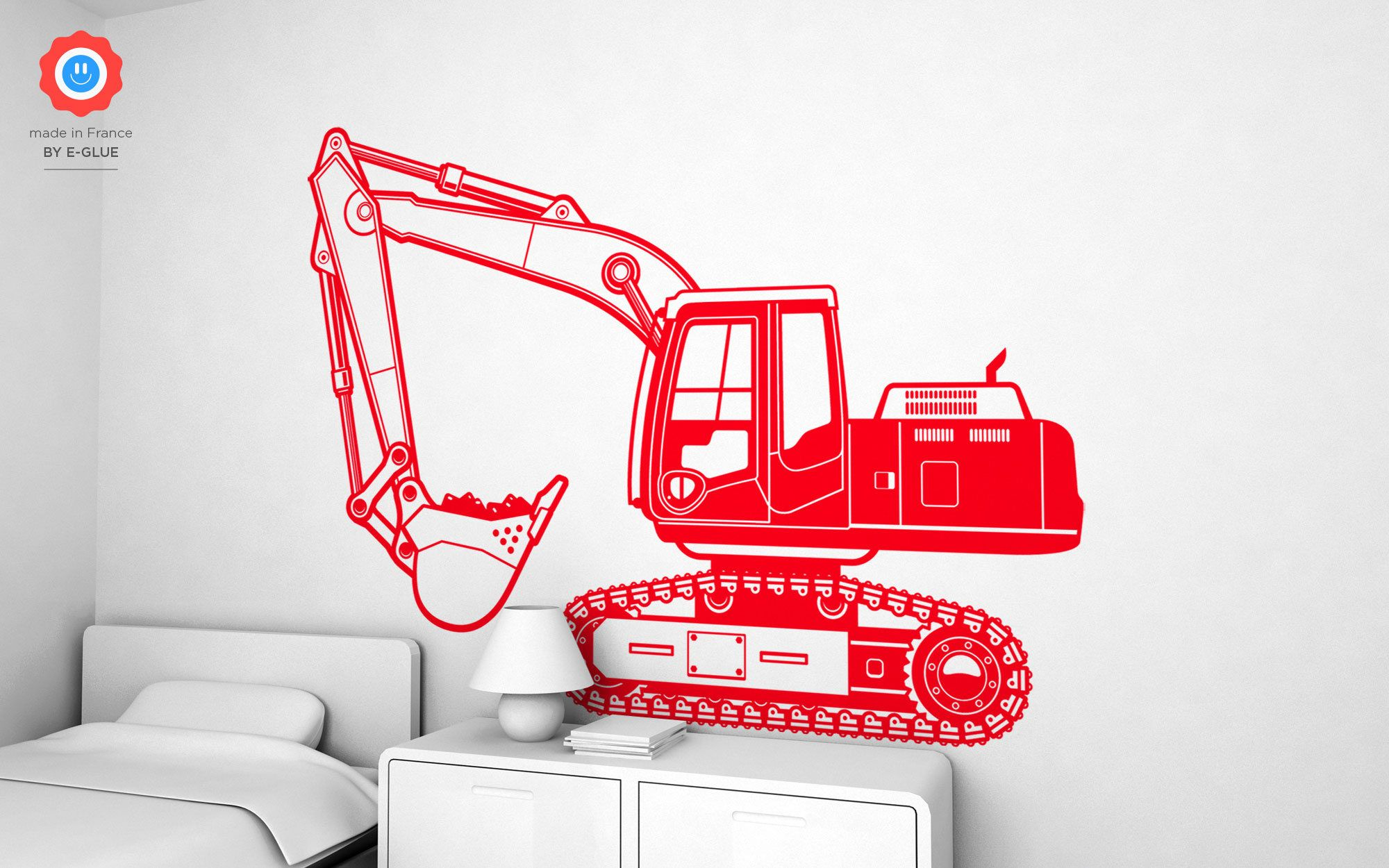 wall stickers for kids room excavator truck large wall on wall stickers for kids id=29747