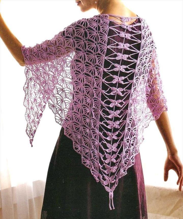 18 Quick Easy Crochet Shawl Pattern Crochet Patterns Crochet