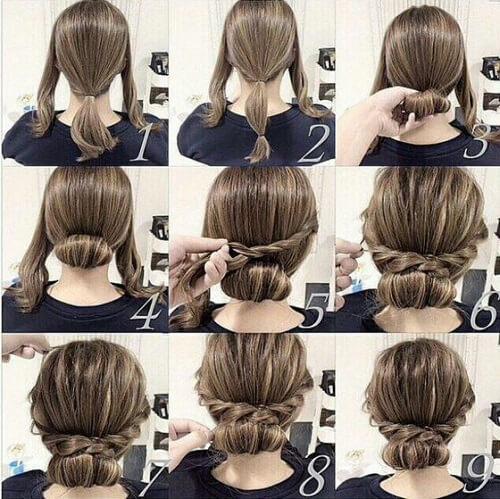 Medium Hair Updos That Are As Easy As 1 2 3 60 Ideas To Diy Hair Motive Hair Motive Long Hair Styles Hair Styles Plaits Hairstyles