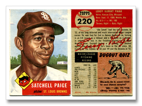 Don T Look Back Something Might Be Gaining On You Satchel Paige Looking Back Paige Baseball Cards