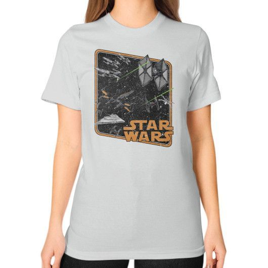 Force Awakened Ships Unisex T-Shirt (on woman)