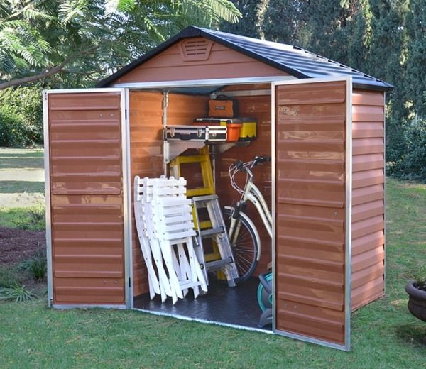 Palram Skylight Amber Polycarbonate Shed 6x5