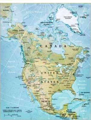 Map of North America North America Pinterest Geography Kids