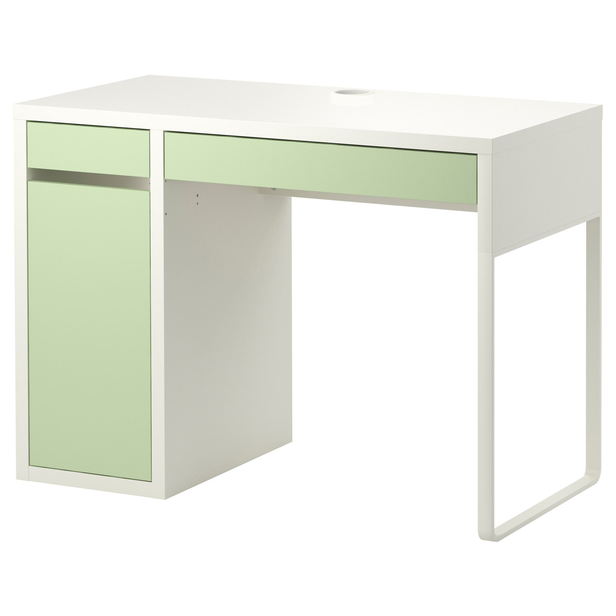 micke bureau blanc vert clair ikea chambre garcon. Black Bedroom Furniture Sets. Home Design Ideas