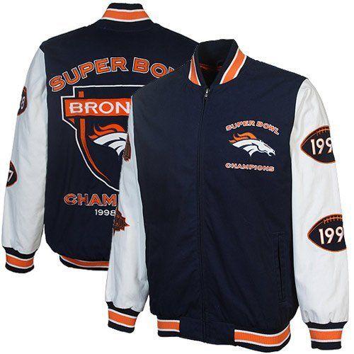 online store ff5a7 e9082 Denver Broncos 2x Super Bowl Championship Jacket by G-III ...