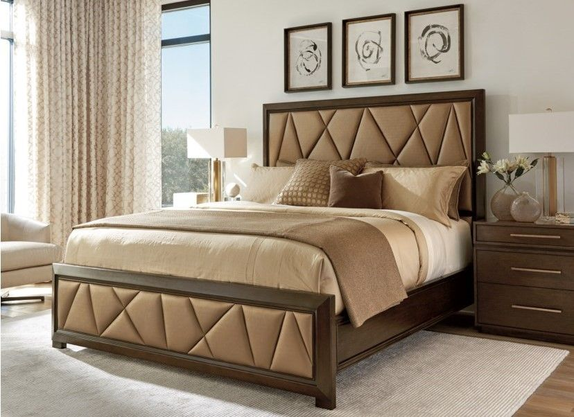 Zavala Spectrum Upholstered Panel Bed Queen Size By Lexington - Spectrum furniture