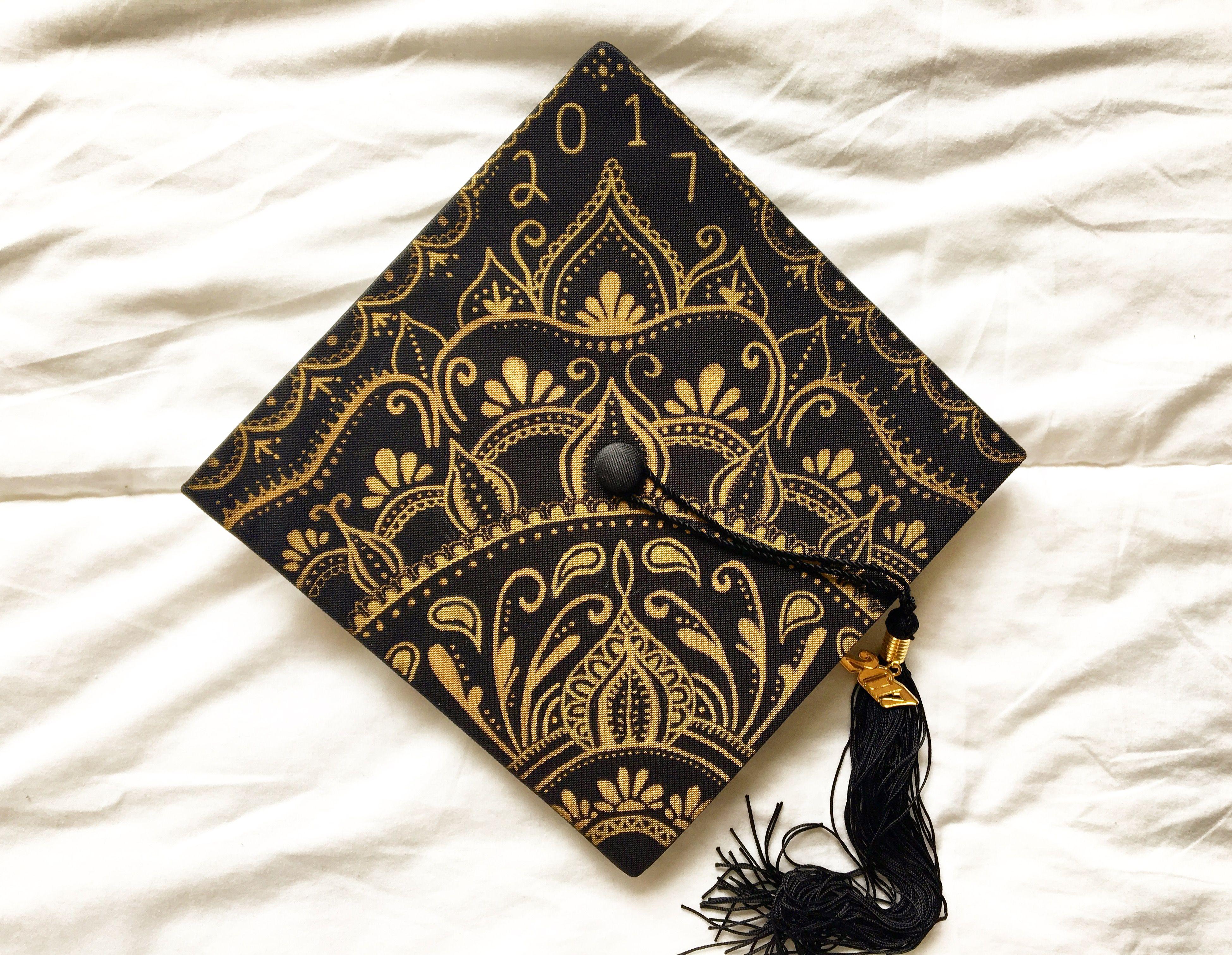 Mandala Graduation Cap D I Y Graduation Cap