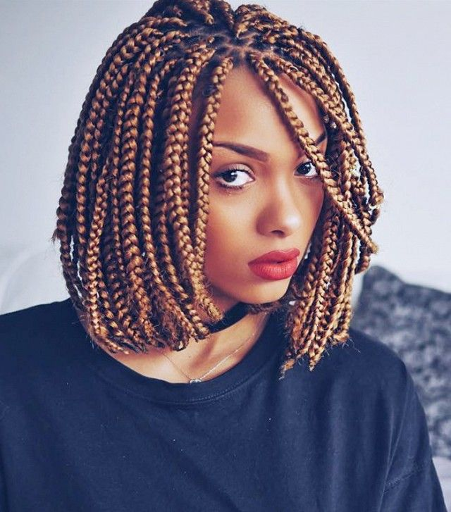 25 Short Box Braids Styles To Try Right Now Hair Styles Box Braids Styling Bob Braids